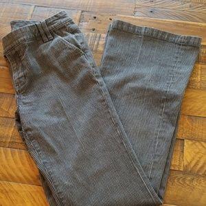 CAbi Gray Railroad Stripe Denim Jean Trousers sz 8